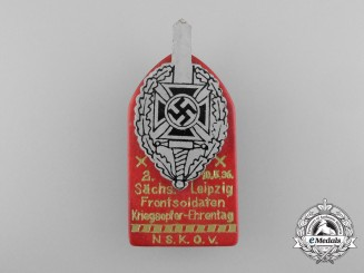 Germany. A 1936 NSKOV Leipzig War Casualties Remembrance Day Badge