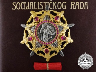 The Yugoslavian Order of the Hero of Socialist Labour to President Marijan Cvetković