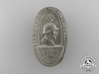 """Germany, Heer. A 1933 Erfurt """"Day of German Soldiers"""" Badge"""