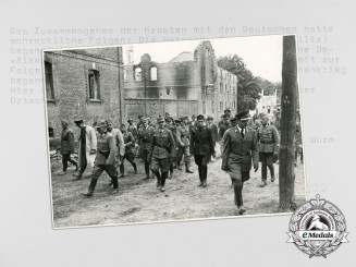 A Mint Photograph Depicting Ante Pavelic Visit to a Village During the Partisan War