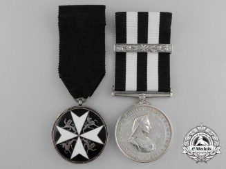 An Order of St. John Pair to Ambulance Sister Hannah Beswick