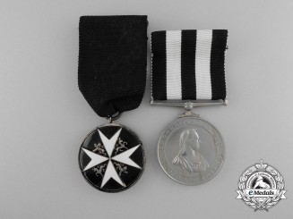 An Order of St. John Pair to Divisional Surgeon; Royal Navy