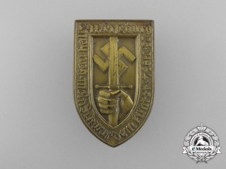 Germany, Third Reich. A 1934 Merseburg Oath of Allegiance Ceremony Badge