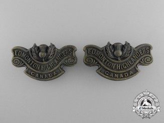 A First War 194th Infantry Battalion Shoulder Title Pair