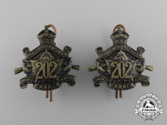 A First War 202nd Infantry Battalion Collar Tab Pair
