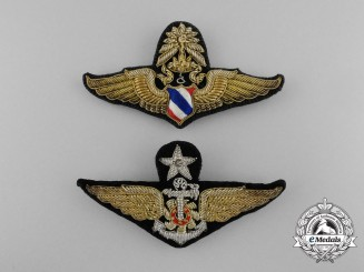 Two Royal Thai Air Force (RTAF) Badges