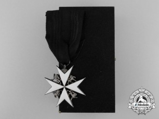 An Order of St. John;  Breast Badge with Case