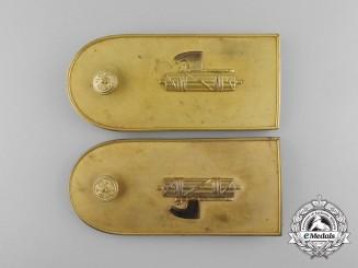 A Set of Italian Fascist Shoulder Boards by Scuotto of Napoli