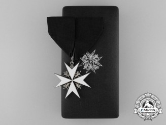 An Order of St. John; Commander's Neck Badge in Case