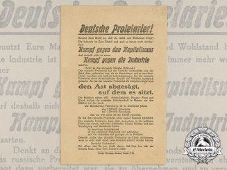 A German Pro-Industrial Propaganda Leaflet Addressed to German Workers