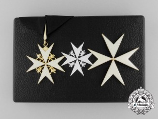 An Order of St. John; Knight of Justice Set with Case