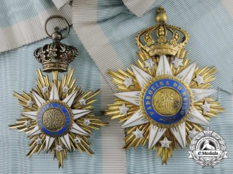 A Portuguese Order of Villa Vicosa; Grand Cross Set by Frederico G. Da Costa