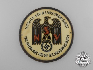A Large National Socialist People's Welfare Member Donation Badge