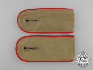 A Mint Set of Luftwaffe Enlisted Man's Flak (Artillery) Tropical Shoulder Boards