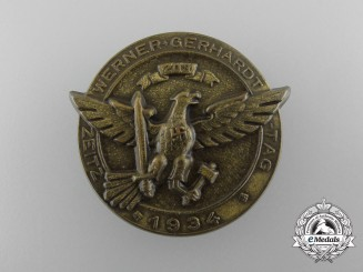 "Germany. A 1934 ""Werner Gerhardt Day"" Badge"