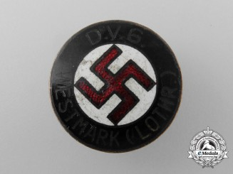 A German Volks-Comrade Union Westmark (Lothr) Membership Badge by Werne Redo