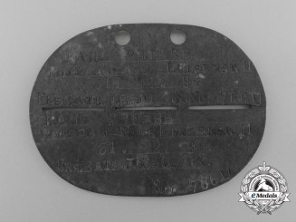 A First War Infantry Regiment 50 Identification Tag