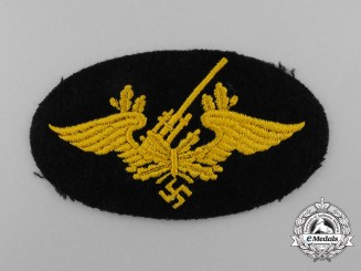 A Mint Kriegsmarine Flak Artillery Personnel's Trade Patch