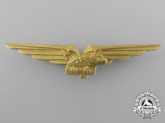 A Second War Italian Pilot's Badge 1943-1945