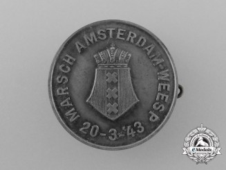 A 1943 Occupied Holland Amsterdam to Weesp March Badge