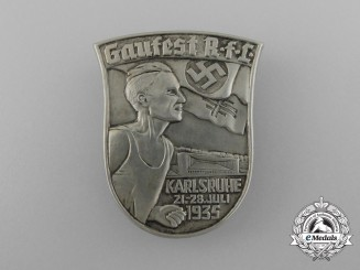 A 1935 Karlsruhe RFL District Council Day Badge