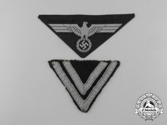 A Lot of Two Wehrmacht Heer (Army) Uniform Insignia