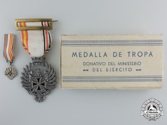 A Spanish Commemorative Medal of Blue Division for Russian Campaign 1941 with Miniature in Box