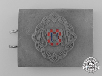 A Rare Second War Croatian Reserve Battalion (Pripremna Bojna) Belt Buckle