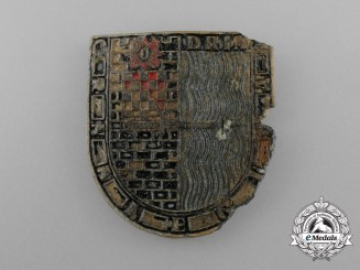 An Extremely Rare Recovered Croatian Badge of the Black Legion
