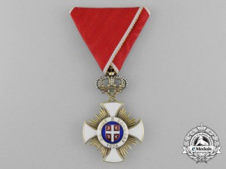 A Serbian Order of the Star of Karageorge; Officer 4th Class