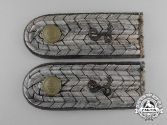 A Set of First War Prussian Lieutenant Balloon Battalion Shoulder Boards