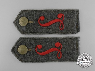 A Set of First War Prussian Luftschiffer (Balloon) Battalion Shoulder Straps