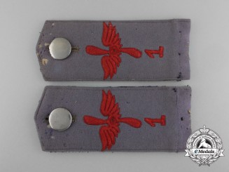 A Set of First War Aviation Department No.1 (Flieger Ersatz Abteilung Nr.1) Shoulder Straps