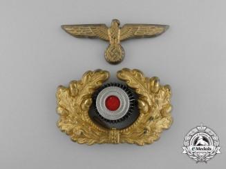 A Complete Set of Kriegsmarine Visor Cap Insignia