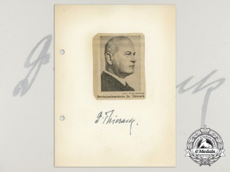 A Wartime Signed Daybook Page of Reich Minister of Justice Otto Georg Thierack