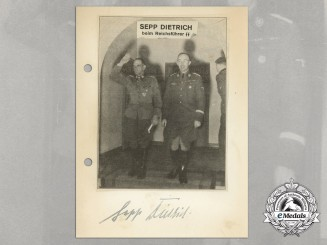 A Wartime Signed Daybook Page of Colonel General of the Waffen-SS Sepp Dietrich