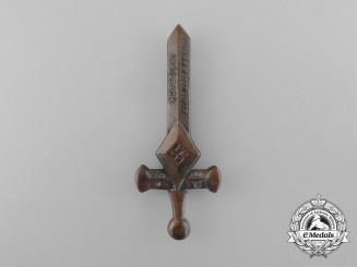 A 1934 HJ Bann 82 Miesbach Championships Badge