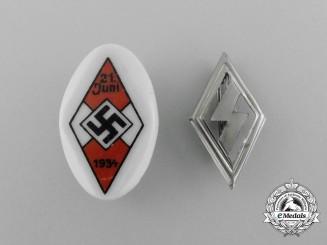 A Lot of Two German HJ/DJ Badges