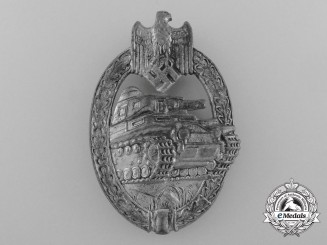 A Silver Grade Panzer Assault Badge by A.D Schwert