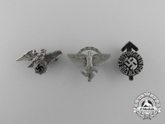 A Lot of Three German Third Reich Period Miniature Awards, Decorations, and Badges