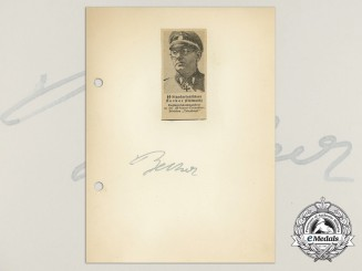A Wartime Daybook Page Signed by SS-Standartenführer Hellmuth Becker