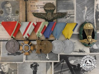 A Superb WW2 Hungarian Master Parachutist's Grouping, With Awards, ID, Photos