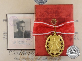The 1953 Order of the People's Hero with Award Document to Croatian President Marijan Cvetković
