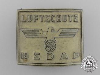 A Unique NSDAP Luftschutz Membership Badge