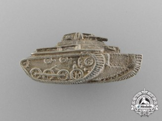 A Very Scarce Spanish Republican Army Armored Units Officer's Breast Badge