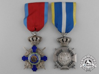 Romania, Kingdom. Two Orders and Awards
