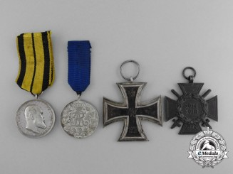 A Lot of Four Fine First War Period Medals, Awards, and Decorations