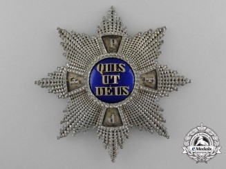 Bavaria, Kingdom. A Merit Order of St. Michael, I Class Grand Cross Star, by Eduard Quellhorst, c.1900