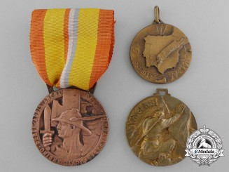 Three Italian Campaign Commemorative Medals