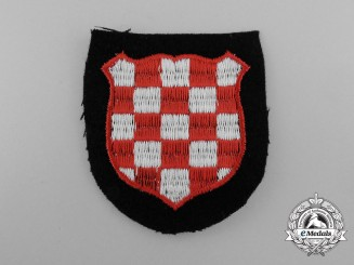 A Mint and Unissued Waffen-SS Croatian Volunteer Sleeve Patch